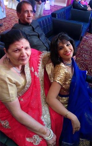 Aditi Tyagi with Parents
