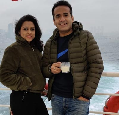 Aman Chopra with Wife