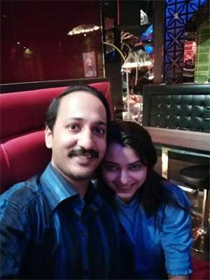 Neha Pant with Husband