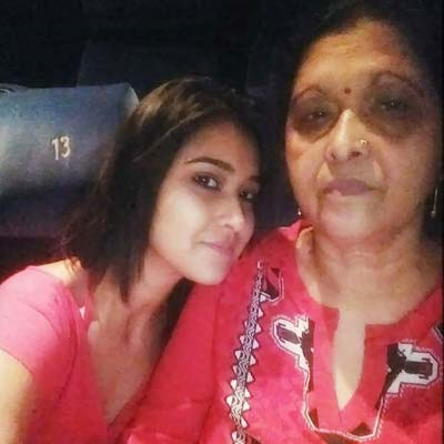 Poornima Mishra with Mother