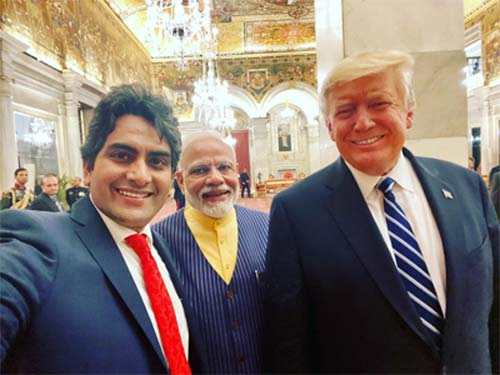 Sudhir Chaudhary selfie with US President and Indian PM